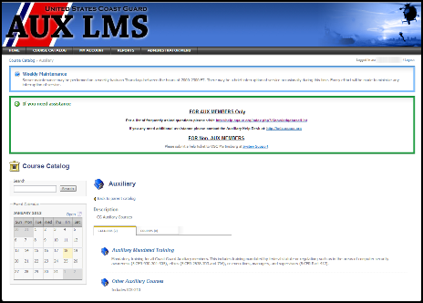 AUXLMS Screenshot